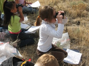 2nd Graders learning binocular skills