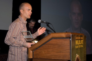 Patrick Rouxel gave a heartwarming thank you when he won the Grand Teton Award Thursday night at the Awards Ceremony.