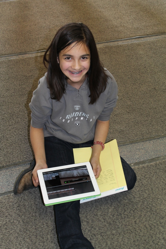 Big Piney 5th grader records her poem in a quiet place!