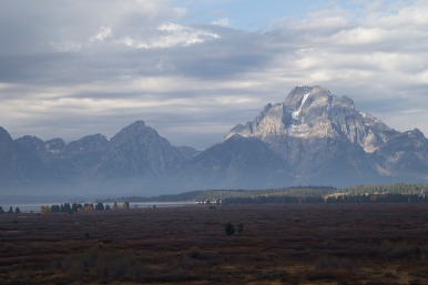 A lovely view of the Tetons from the Jackson Lake Lodge!